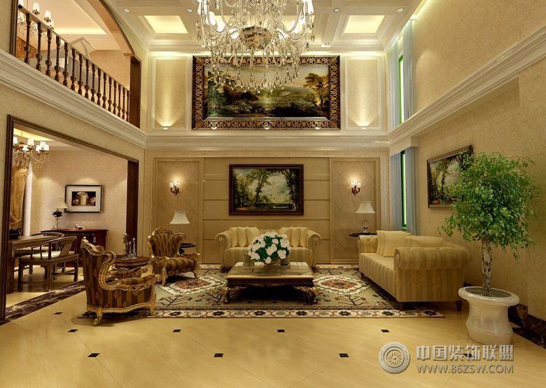 360平欧式别墅欧式客厅装修图片