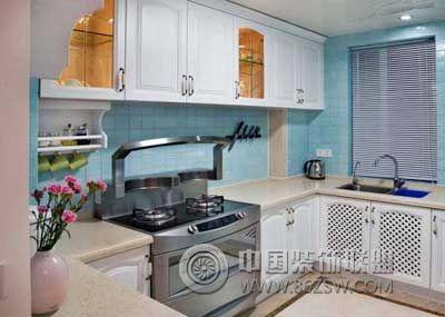 简约欧式风格跃层-厨房装修效果图-八六(中国)装饰