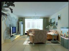 圆满的生活现代客厅装修图片