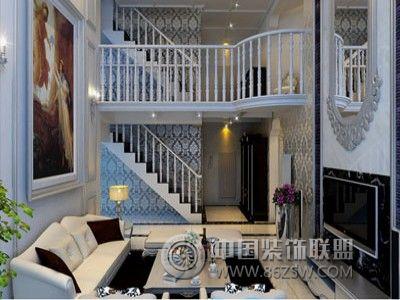 一居室-260㎡-客厅装修效果图; 崂山别墅-复式-350平米-客厅装修效果图片