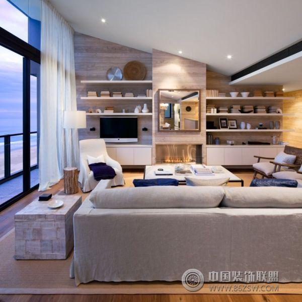 清新海景公寓-客厅装修效果图-八六(中国)装饰联盟(.
