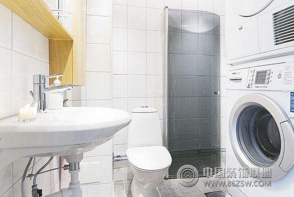 40平米蓝色活力公寓简约卫生间装修图片
