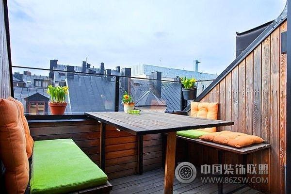 57平米现代公寓-阳台装修效果图-八六(中国)装饰联盟