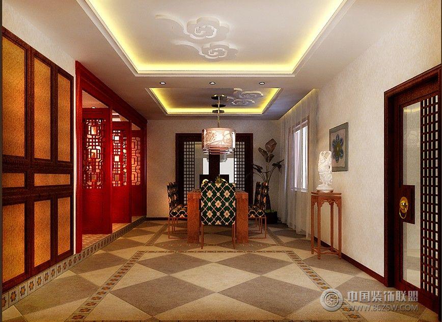 260平现代中式别墅餐厅装修图片