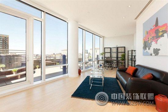 纽约顶层复式 客厅装修效果图