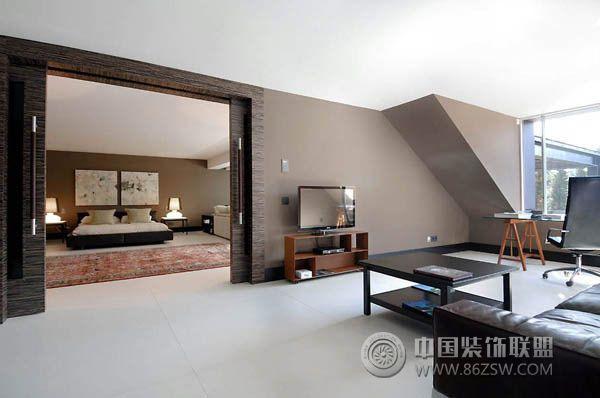 西班牙豪华现代别墅-卧室装修图片