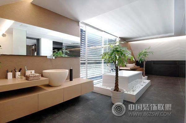 西班牙豪华现代别墅 客厅装修效果图高清图片