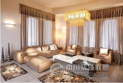 香槟色别墅客厅装修 客厅装修效果图