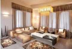 香槟色别墅客厅装修