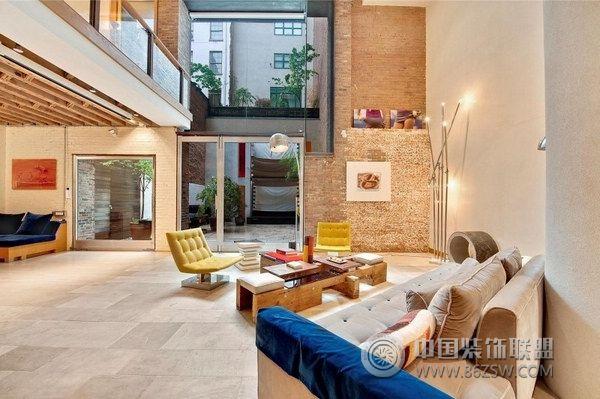 精心设计的复式公寓-现代风格装修效果图-八六装饰网图片