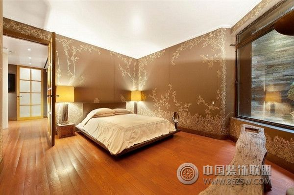 精心設計的復式公寓-臥室裝修圖片