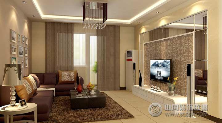 6万装73平米创意简约小居 客厅装修效果图 八六装饰网装修效果图库