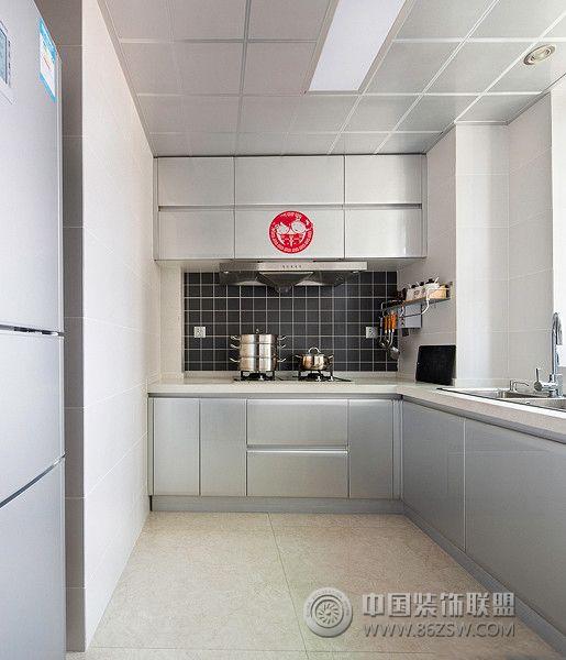 90平米淺色調簡約婚房簡約廚房裝修圖片