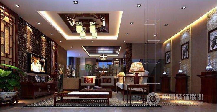 中式风格别墅 餐厅装修图片