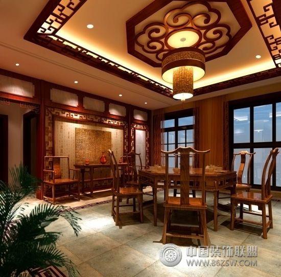 中式风格别墅-餐厅装修图片