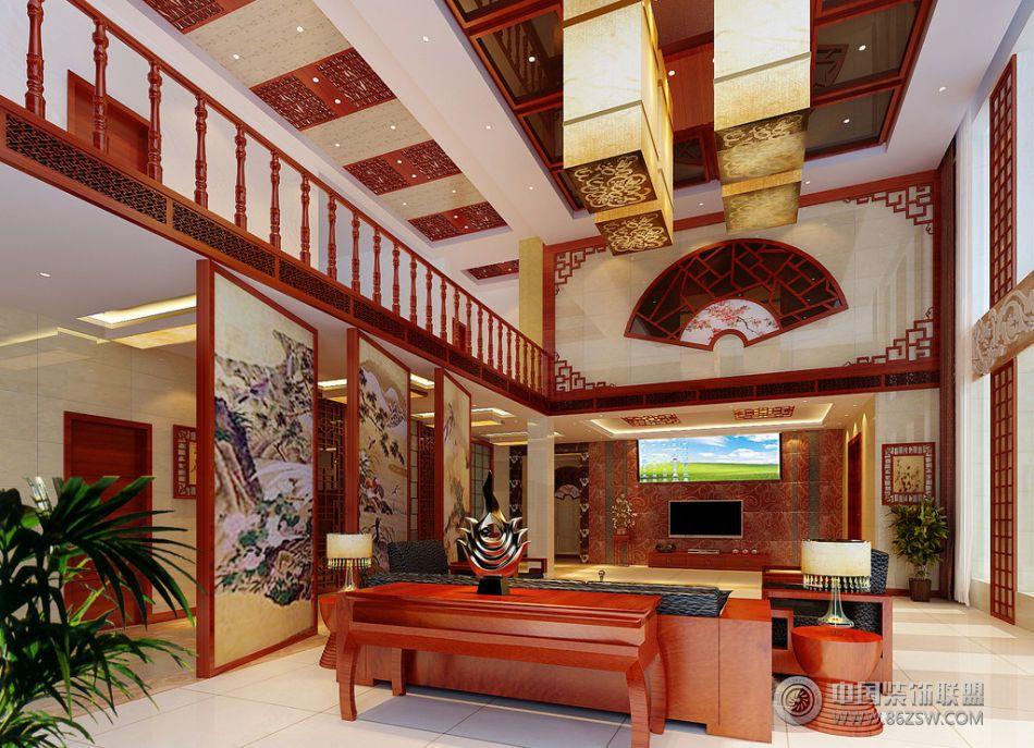 中式风格别墅整套大图展示_中式别墅装修效果图_八六