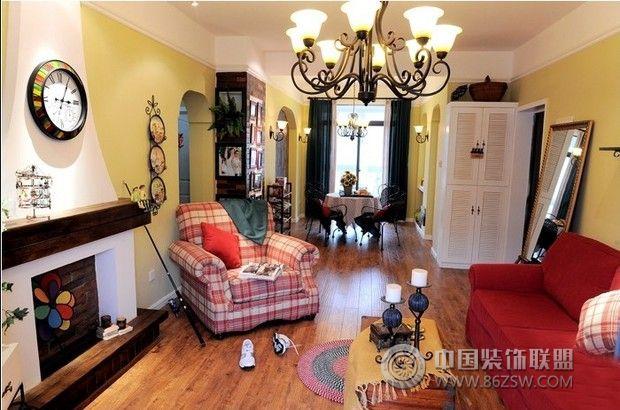 80平美式田园混搭美家 卧室装修效果图高清图片