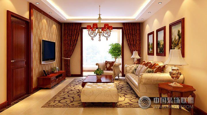 15万打造143平欧式婚房欧式客厅装修图片