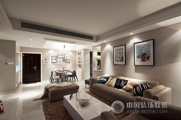 27万打造超现代浓情婚房客厅装修图片