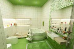 绿色清新浴室案例