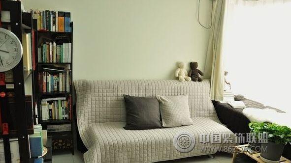 65平米简约清爽小户型-客厅装修效果图-八六(中国)
