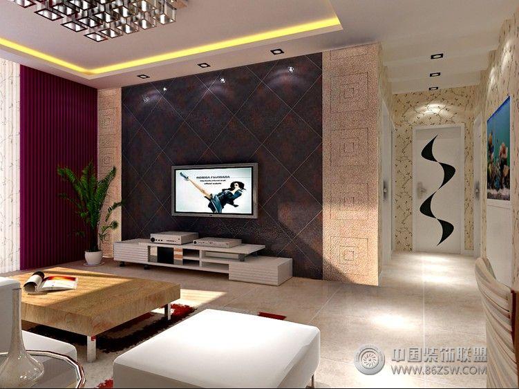 93平米现代个性化家居 客厅装修效果图 八六装饰网装修效果图库 www.高清图片