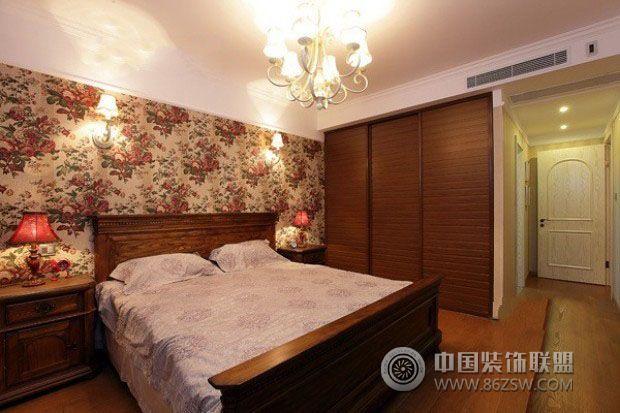 82平米美式田园风田园卧室装修图片