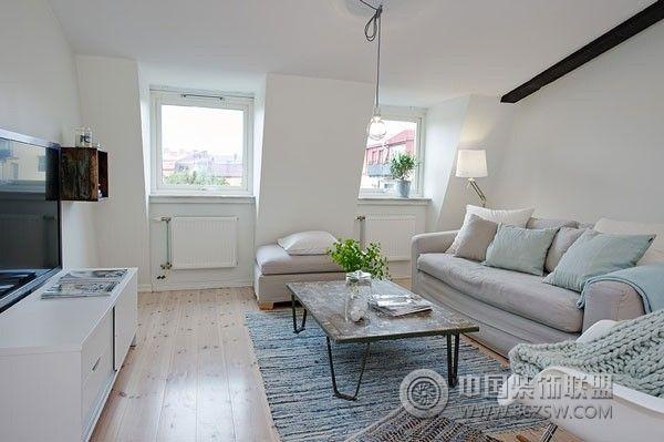 现代简约环保家居 客厅装修效果图 八六装饰网装修