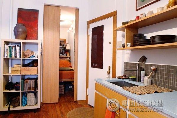 原木复古公寓 整套大图展示 简约风格装修效果图 八六装饰