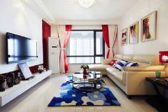13万打造88平米红蓝完美家居