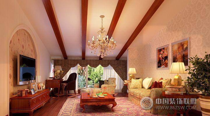 30万打造185平米中式豪宅-客厅装修图片