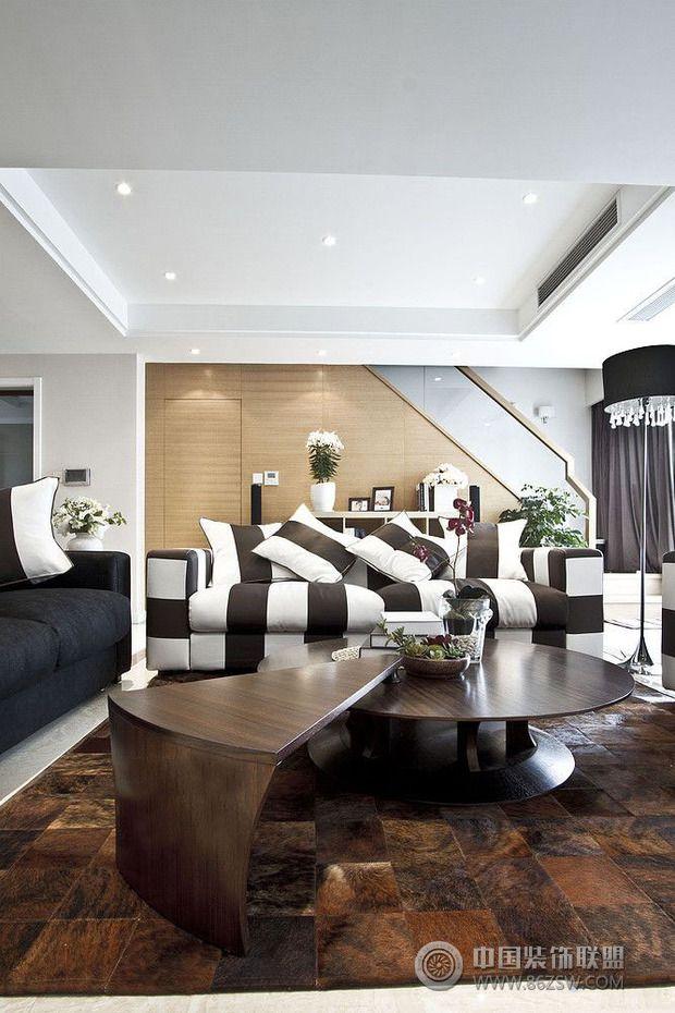 7万半包86平米爵士风情欧式风格客厅装修效果图