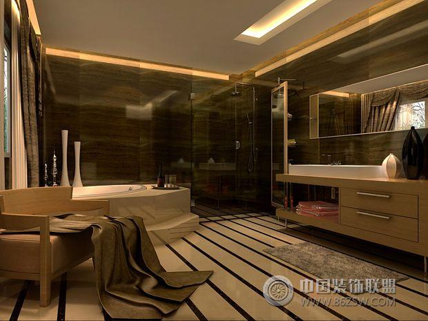 320平米简欧别墅简约卫生间装修图片