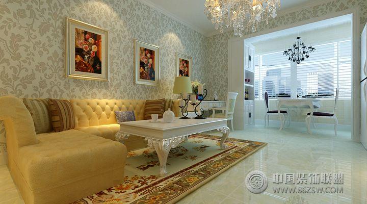7万打造80平米现代古典混搭 客厅装修效果图