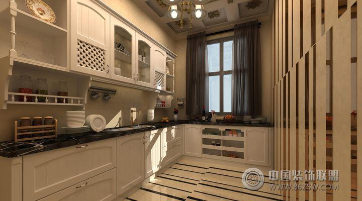 12万打造132平米欧式奢华家居欧式厨房装修图片图片