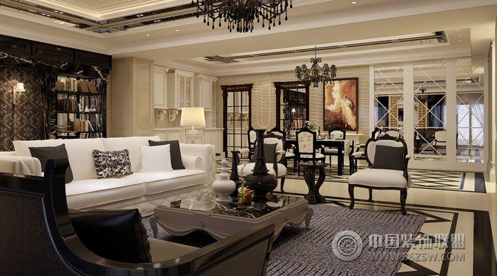 12万打造132平米欧式奢华家居欧式客厅装修图片