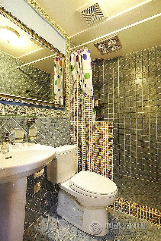 163平欧式田园复式美居田园卫生间装修图片