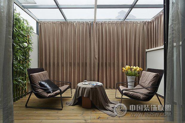 143平米摩登复式-阳台装修图片