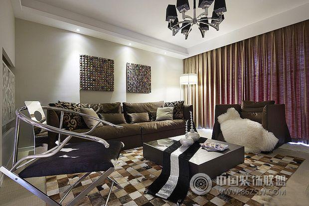 143平米摩登复式-客厅装修效果图-八六(中国)装饰联盟
