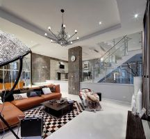 60豪装现代奢华复式家居