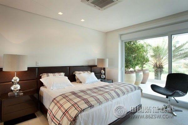 巴西奢华度假别墅现代卧室装修图片