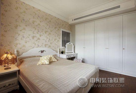 美式乡村大器宅别墅设计 卧室装修效果图 八六装饰网