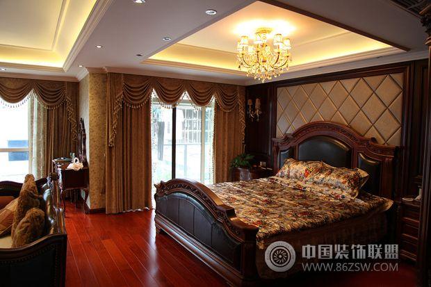 185平米美式复式豪宅欧式卧室装修图片