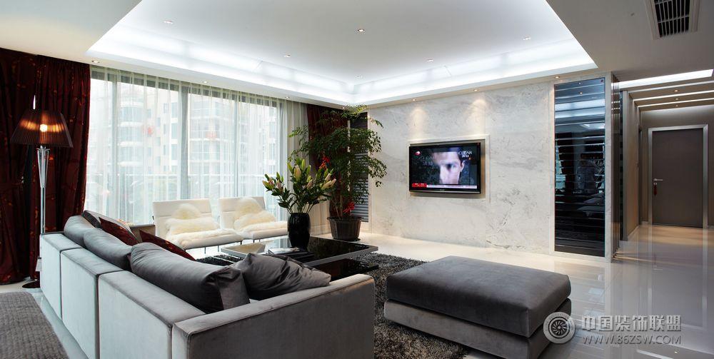 13万打造150平米简约阳光婚房-客厅装修图片