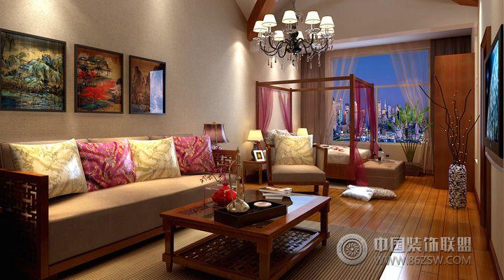 中式别墅 整套大图展示 中式风格装修效果图 八六装饰网装修