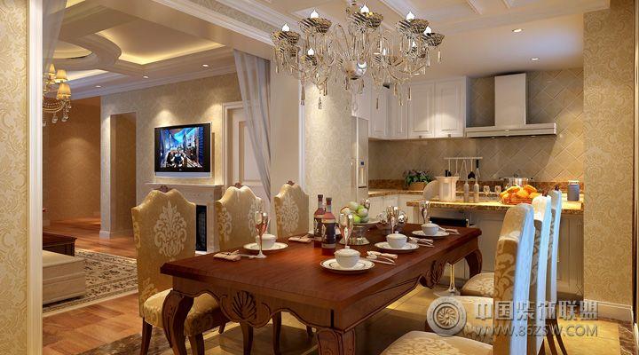 310平现代中式别墅 餐厅装修效果图 -310平现代中式别墅 餐厅装修图片