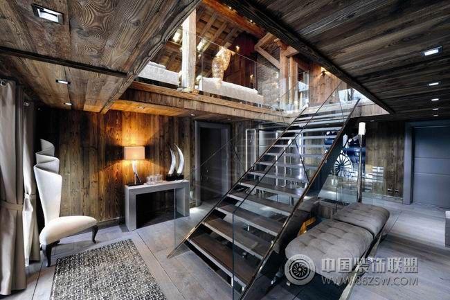法国豪华木屋混搭风格阁楼装修效果图