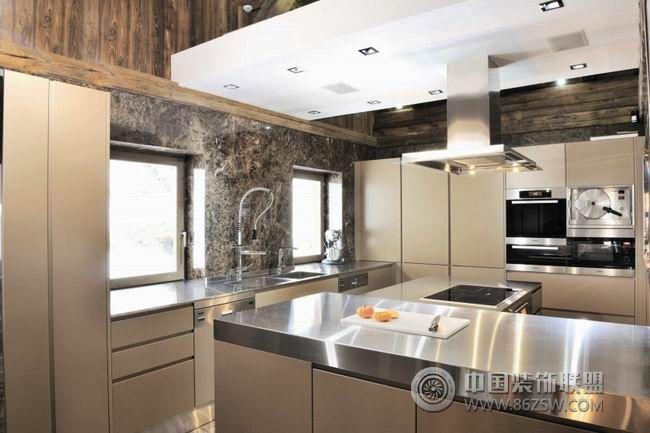 法国豪华木屋-厨房装修效果图-八六(中国)装饰联盟
