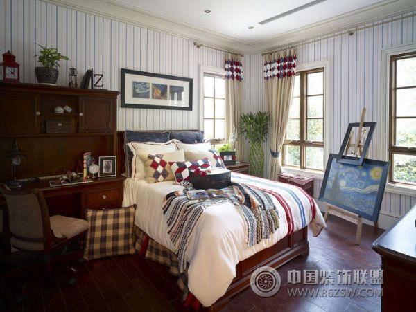420平欧式豪华别墅-卧室装修图片