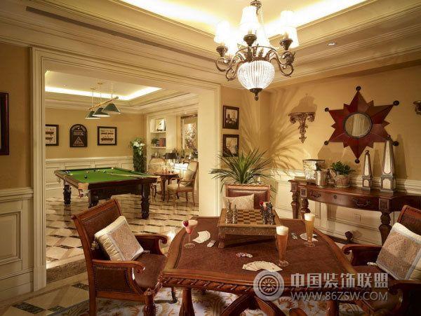 420平欧式豪华别墅-餐厅装修效果图-八六(中国)装饰